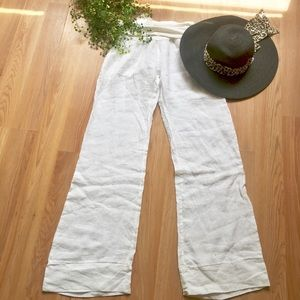 Pants - NWT White linen pants from Italy 🇮🇹